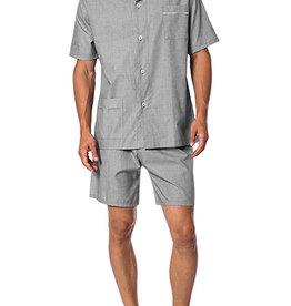 Novila Herren Schlafanzug Pyjama Patrick kurz 8058 anthrazit 11