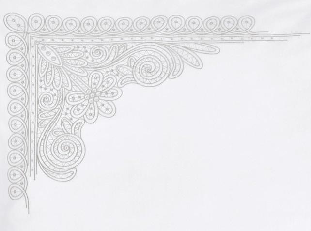 Christian Fischbacher   Christian Fischbacher-Luxury Nights-AURELIE weiß-Stickerei grau