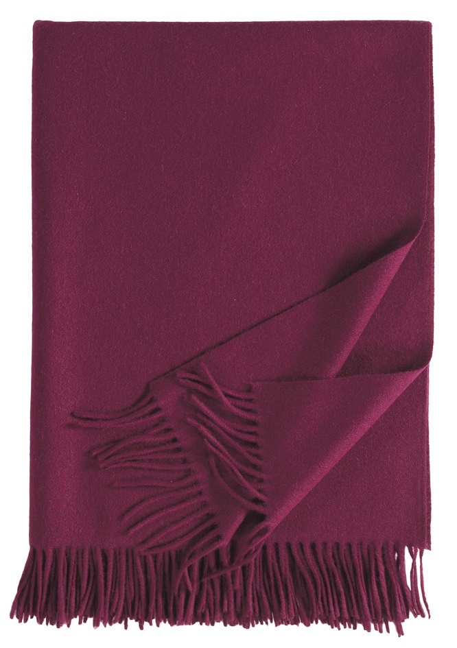 Eagle Produkts Windsor Cashmereplaid 100% Kaschmir Farbe beere 1274