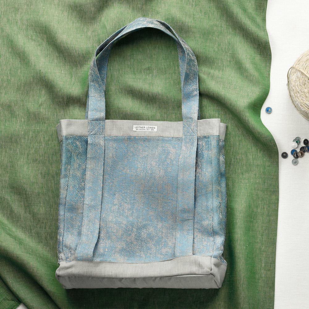 Leitner  Leitner Bag - handgefertige Tasche Leinen 258-petrol 265