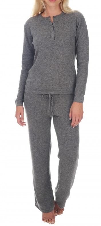 C.O.  Cashmere Damen Pyjama LOA 100% Cashmere - kuschelig warm und weich-5 Farben