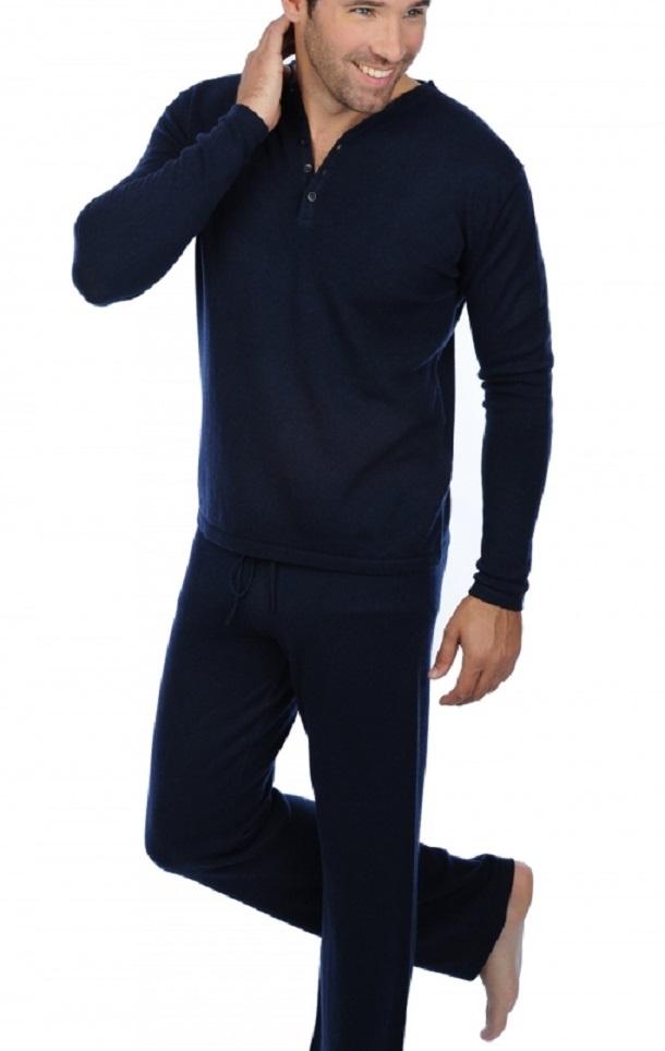 C.O.  Cashmere Herren Pyjama ADA 100% Cashmere - kuschelig warm und weich