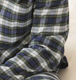 Novila Damen Schlafanzug Flanell Helena 8040 blau-grün Gr.36-46
