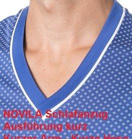 Novila Herren Schlafanzug 8090 kurz -Übergröße 62-68
