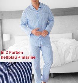 Novila Herren Schlafanzug Pyjama Ralph 8046 hellblau und marine