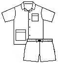 Novila  Herren Schlafanzug Pyjama Patrick 8058 kurz mittelblau 105