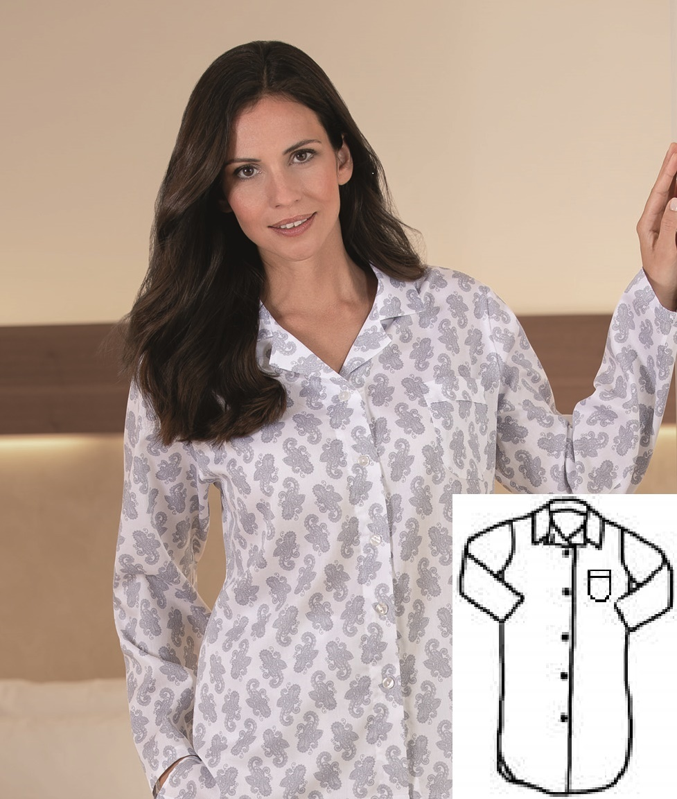 Novila  Damen Nachthemd  Novila Marina
