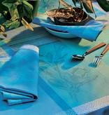 Garnier Thiebaut GT Tischsets 40x50 cm cm  Mille Gardenias lagon-beschichtet-abwaschbar
