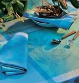 Garnier Thiebaut GT Tischläufer 55x150 cm  Mille Gardenias lagon- beschichtet