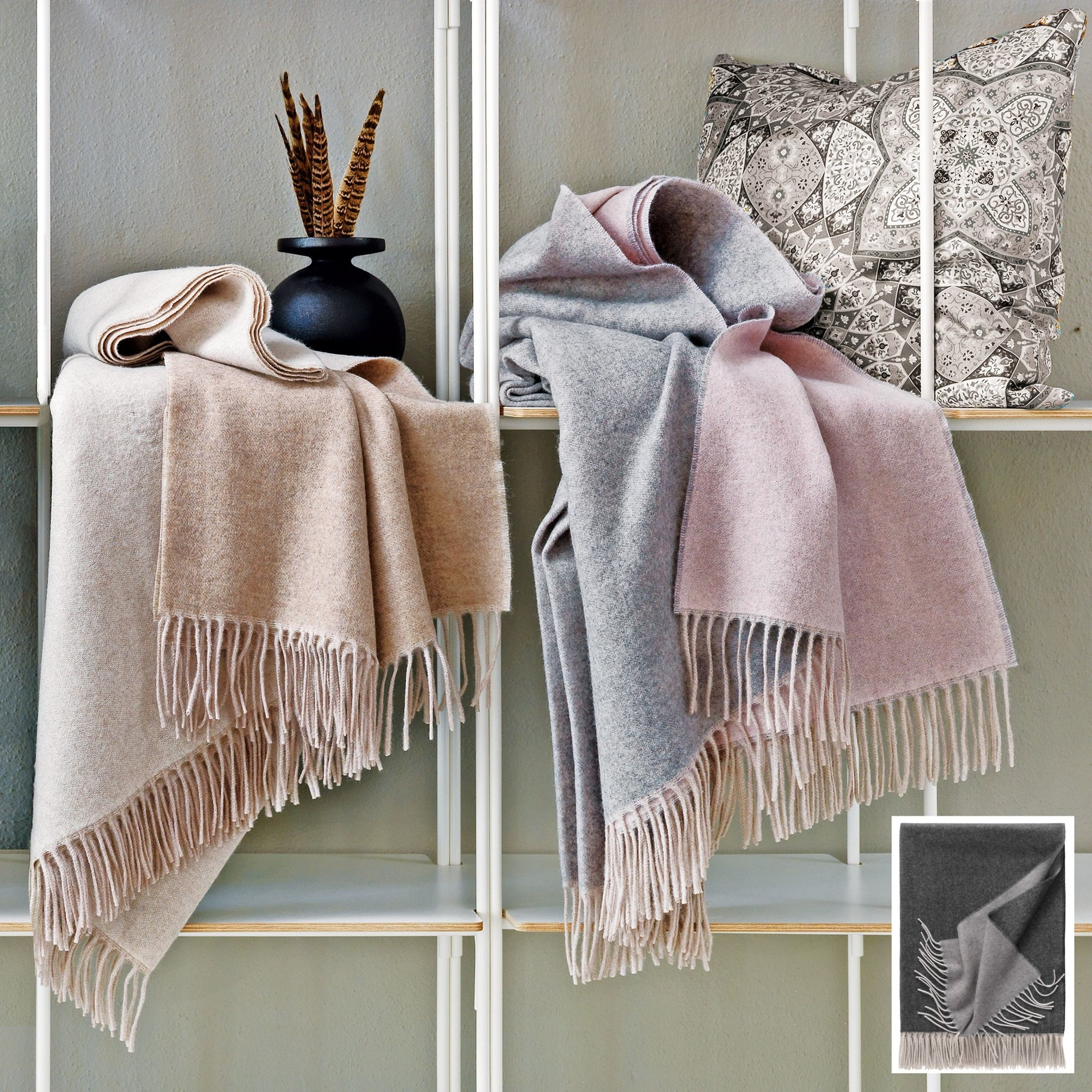 Eagle Produkts Kuschelplaid Wendeplaid 60% Cashmere und 40% Wolle Alassio