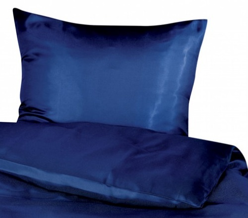 Cellini Design Seidenbettwäsche Mauritius Uni dunkelblau