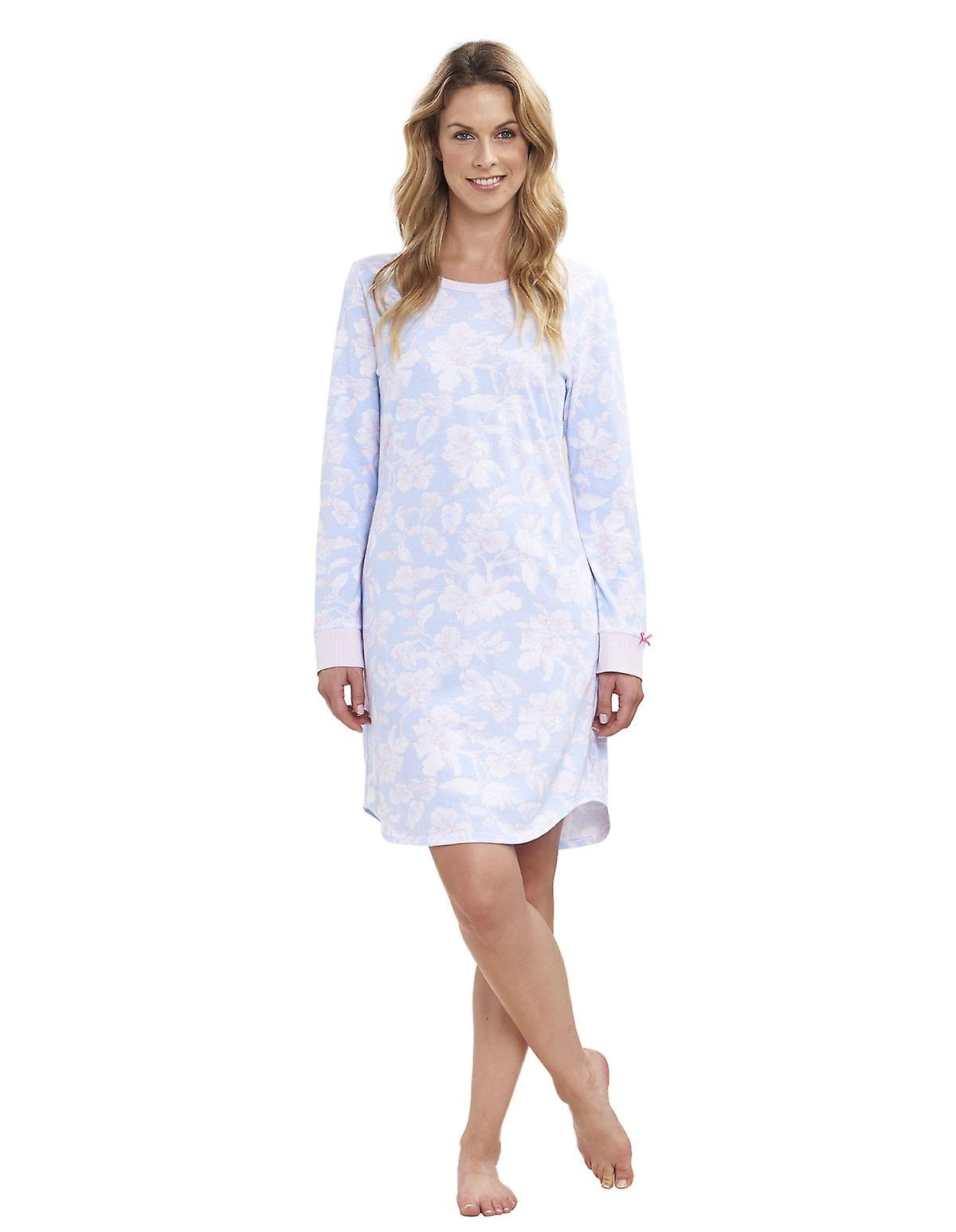 Féraud - Rösch Rösch Nachthemd, Bigshirt feiner Single Jersey -arctic-blue