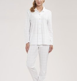 Féraud - Rösch FÉRAUD Paris High Class Damen Pyjama Karo Design Interlock Druck ivoire
