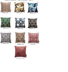 Eagle Produkts Kissenbezüge Orient aus 100& Seide (2 Stück) 40x40 cm