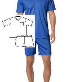 Novila Herren Schlafanzug Novila Größe 50 SIR 8061/61  kurz-blau