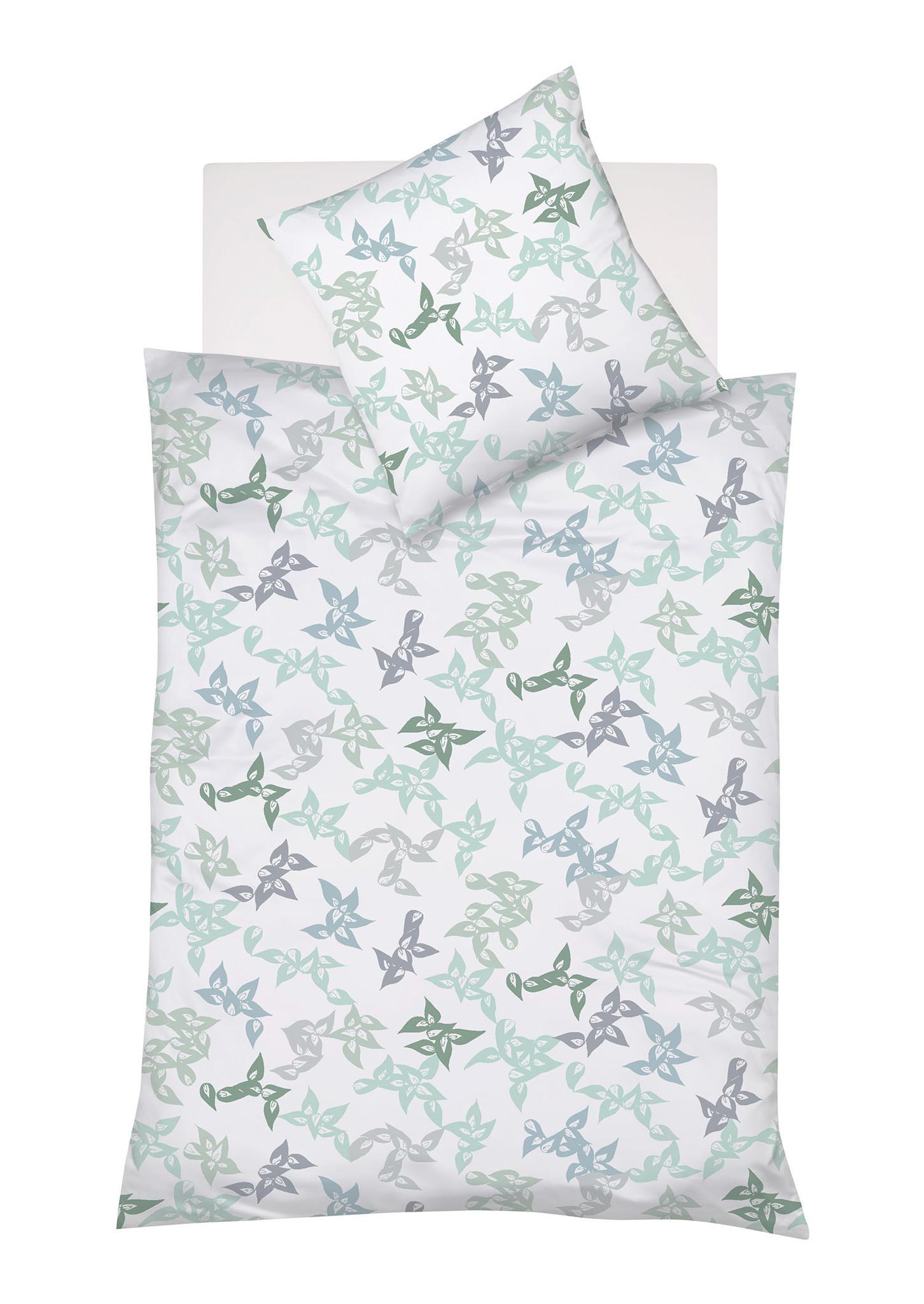 Interlock Jersey bügelfrei TOPAS - Blattmuster grün