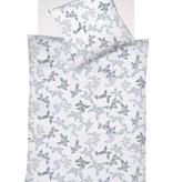 Interlock Jersey bügelfrei TOPAS - Blattmuster grau