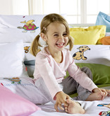 Kids Collection Kinder Bettwäsche Rose-Weiß-Fleuresse