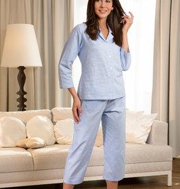 Novila Novila Damen Schlafanzug  Nora 8201 blau 202