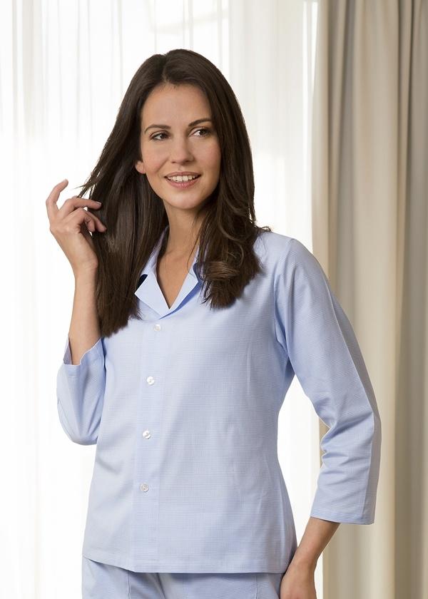 Novila  Novila Damen Schlafanzug  Nora 7/8 -8201 blau 202