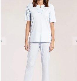 Féraud - Rösch Féraud Damen Sommer Pyjama KurzarmTunika Schnitt mit 7/8 Hose-Fb.blau