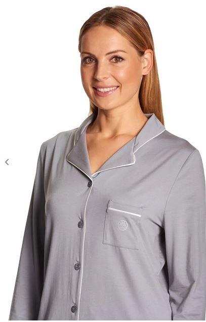 Féraud - Rösch    Féraud Damen Nachthemd Lyocell - mit Reverskragen Fb.anthrazit