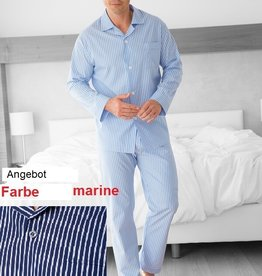 Novila Angebot Herren Pyjama Größe 52 Ralph 8046 marine