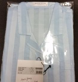 Novila Damen Schlafanzug Gr.38 Celine 1/1 blau 8367 -Sonderpreis