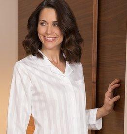 Novila Damen Schlafanzug Nora 7/8 Schnitt -  8367 weiß