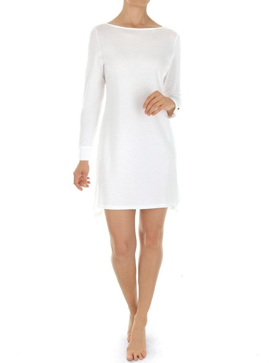 Novila Damen Nachthemd Janina 8703 weiß