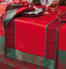 Garnier Thiebaut Garnier Thiebaut Tischläufer  GT NOEL ETOILE rouge Weihnachten
