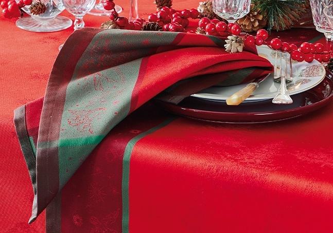 Garnier Thiebaut  Garnier Thiebaut Servietten NOEL ETOILE  rouge