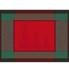 Garnier Thiebaut Garnier Thiebaut Tischset's (4-er Set) Weihnachten NOEL ETOILE rouge