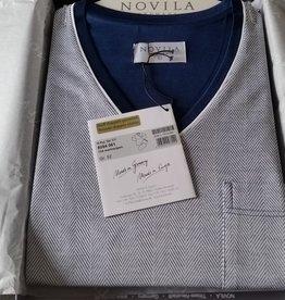 Novila Herren Schlafanzug Gr.46-60 Novila SIR 8094 marine