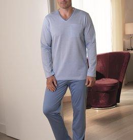 Novila Herren Schlafanzug Gr.46-60 Novila SIR 8094 blau 105