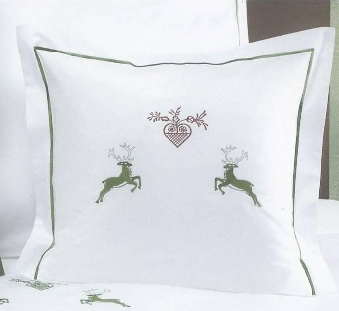 Luxus Bettwäsche Graser Maco Satin Uni Stickerei Hirsch Textile