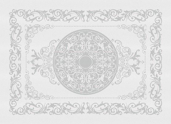 Garnier Thiebaut Garnier Thiebaut Tischset's (4-er Set) 54x39 cm Comtesse blanc