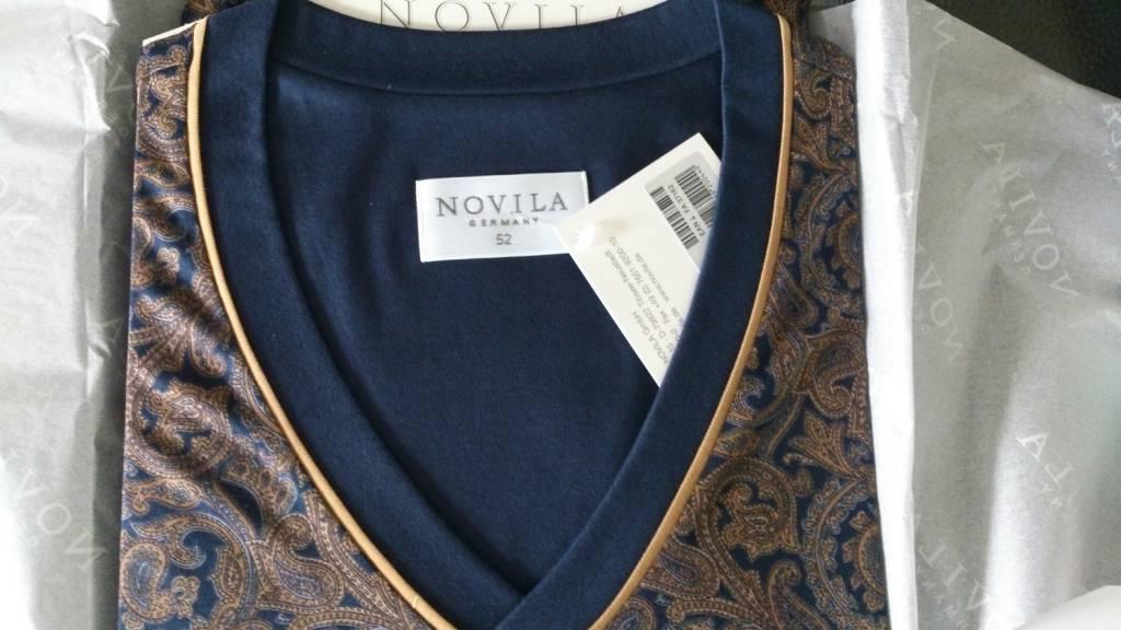 Novila  Herren Schlafanzug Gr.46-64 Novila SIR 1/1 8076/61.104