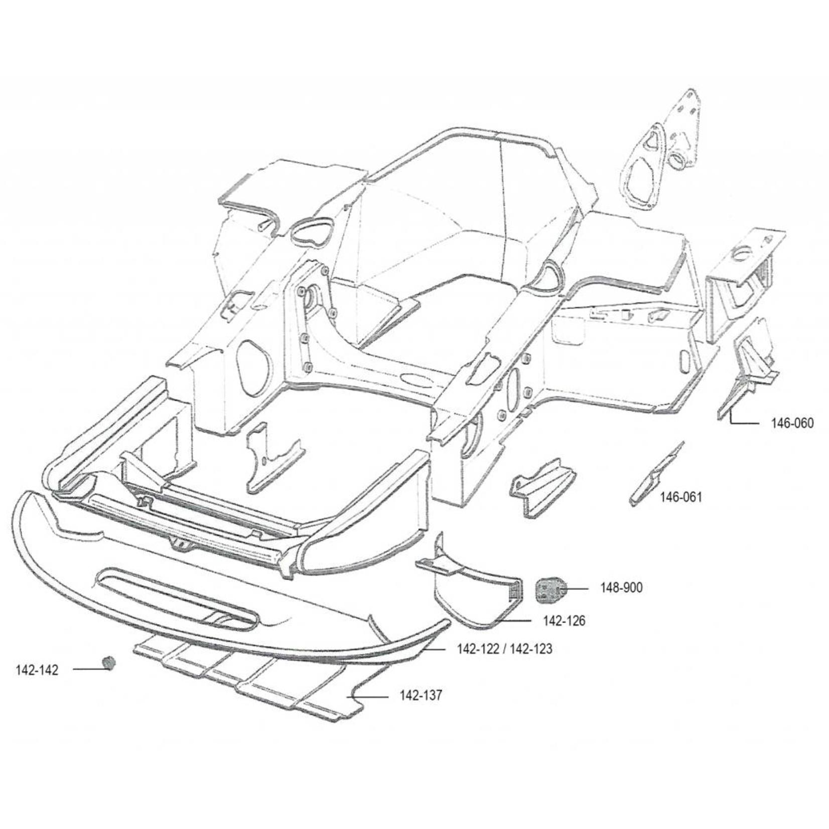Chapa de revistimento polyester 62-68 Nr Org: DX85399A