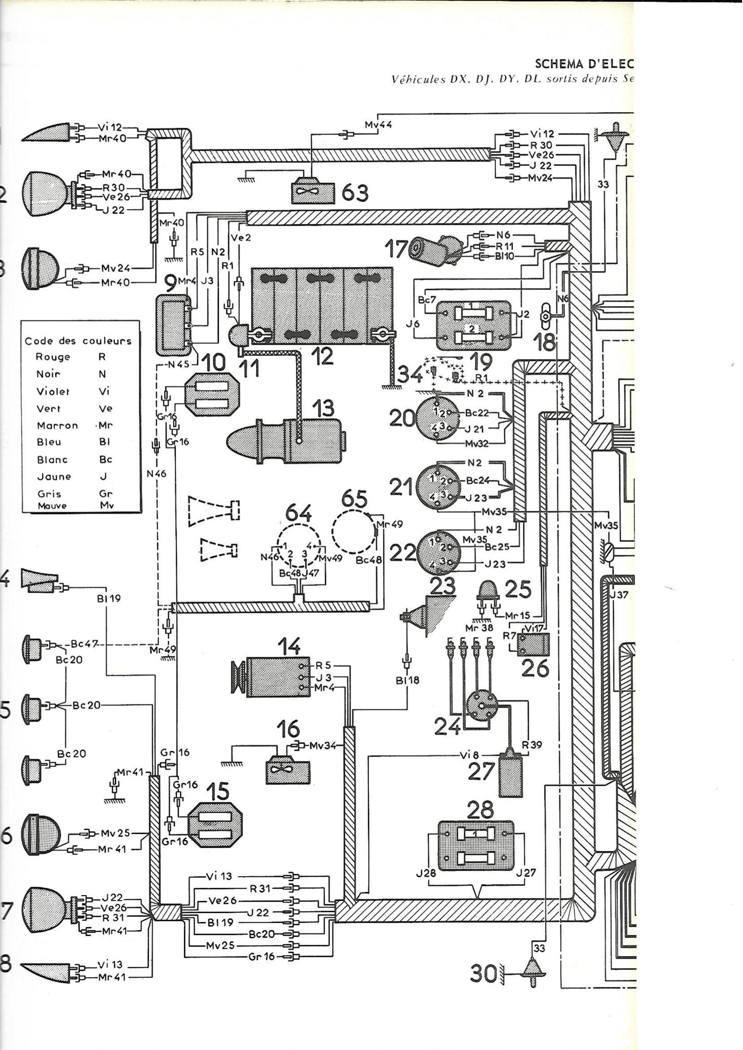 Cablerie avant (dynamo / batterie à droite) pallas 67