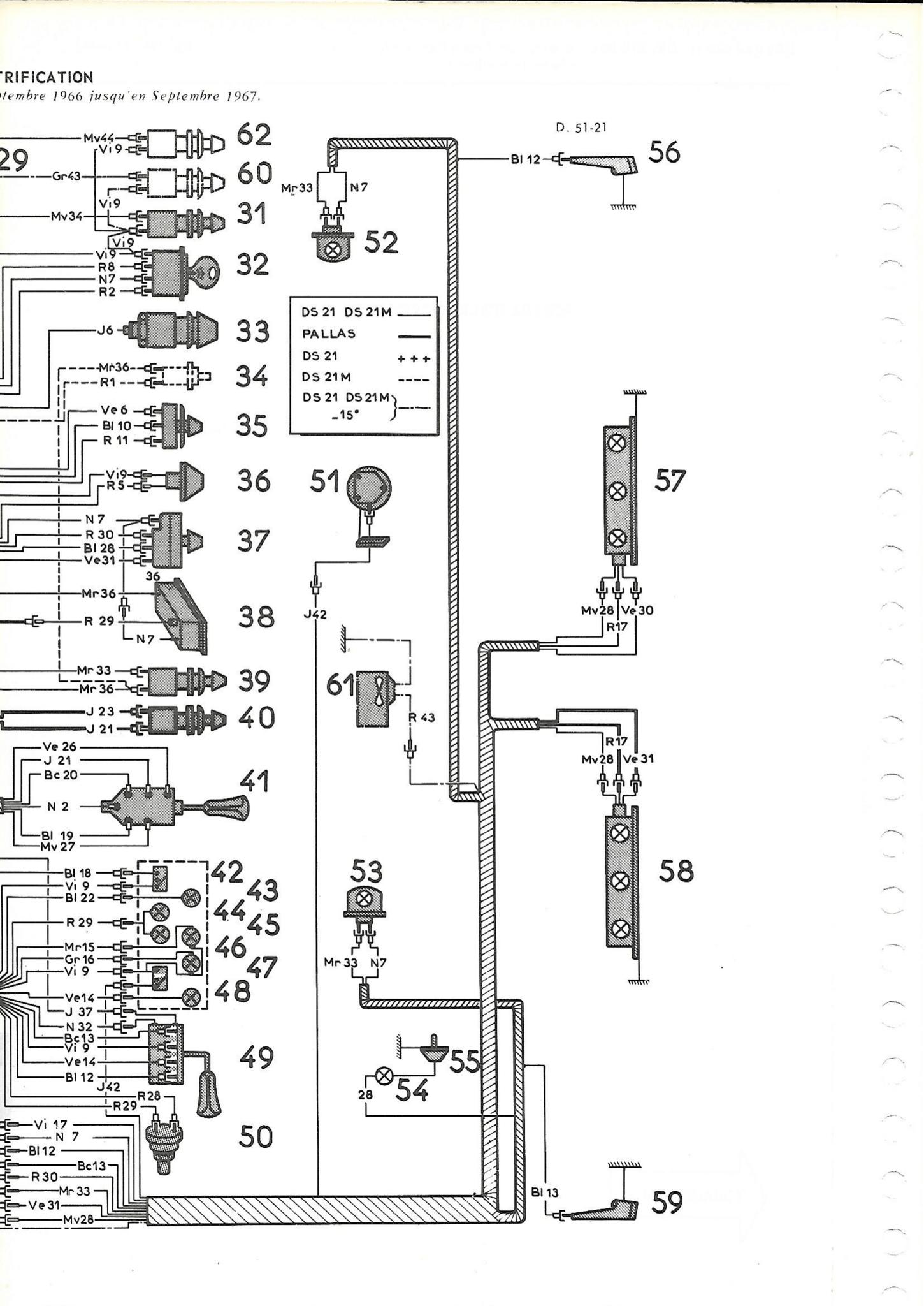 Cableria delantera (bateria derecha / dinamo) pallas 67