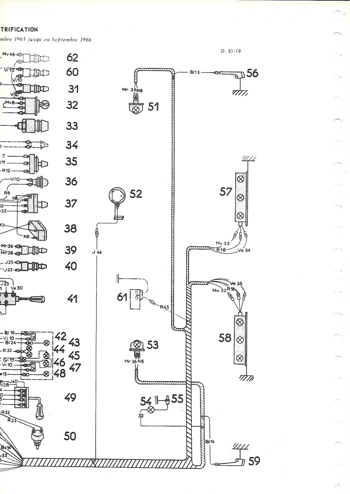 Cableria delantera (batteria izquierda) pallas 66 Nr Org: DX51123C