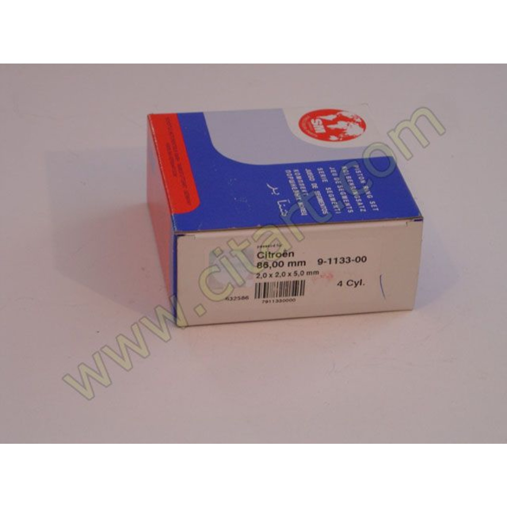 Segments de pistons 86mm Nr Org: 5438080