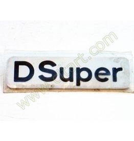 "Monograma ""d super"" adhesivo 72-"