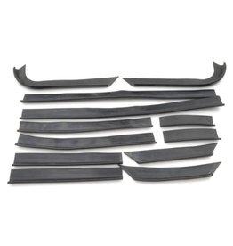 Rubbers voorscherm - chassis