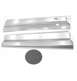 Body panels stainless steel mat - 4 parts