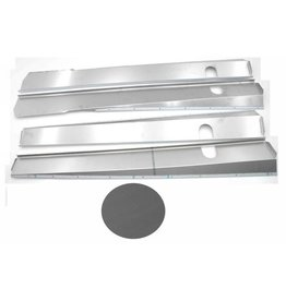 Body panels stainless steel mat break / cabriolet - 4 parts