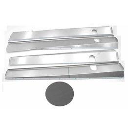 Chapas de caja Inox mat break / cabriolet - 4 piezas