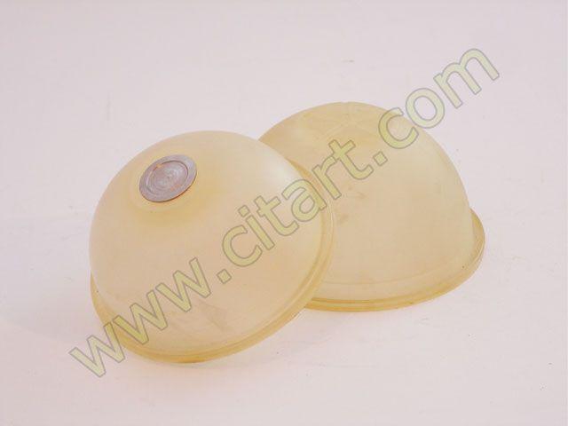 Membrane sphere accumulator / brake LHM