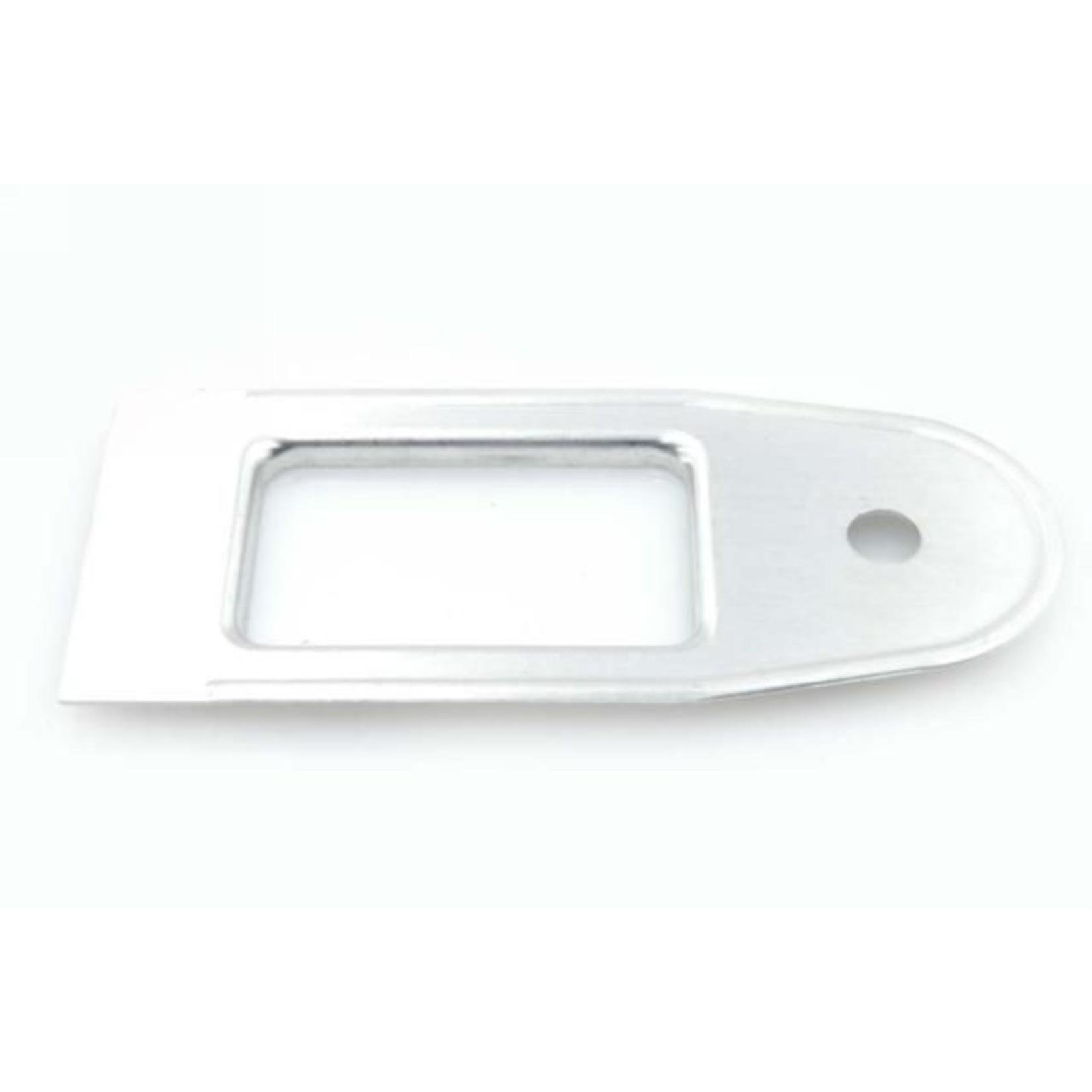 Plaquette passage tirant porte arrière aluminium Nr Org: DS84255B